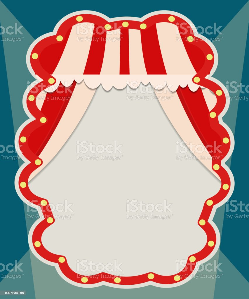 Poster Template With Retro Circus Banner Design For Presentation