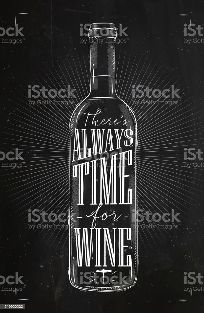 Affiche temps pour le vin CRAIE - Illustration vectorielle