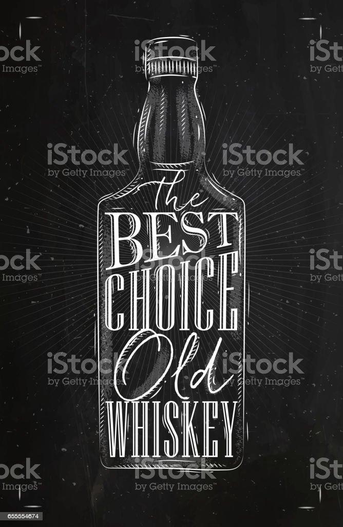 Poster whiskey best choice vector art illustration
