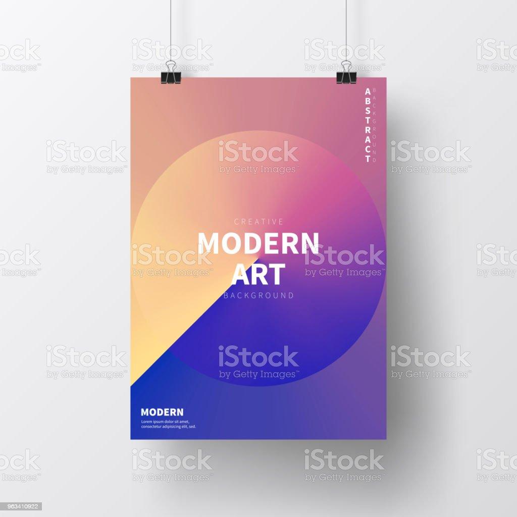 Plakat z abstrakcyjnym wzorem, odizolowany na białym tle - Grafika wektorowa royalty-free (Plakat)