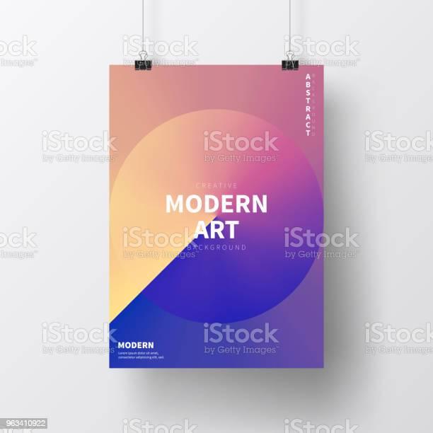Plakat Z Abstrakcyjnym Wzorem Odizolowany Na Białym Tle - Stockowe grafiki wektorowe i więcej obrazów Plakat
