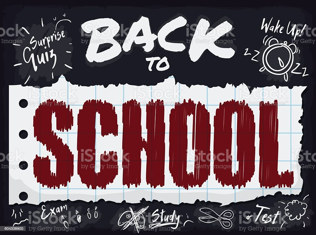 Poster with all Responsibilities of Back to School Season vector art illustration