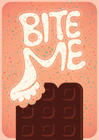Poster with chocolate.