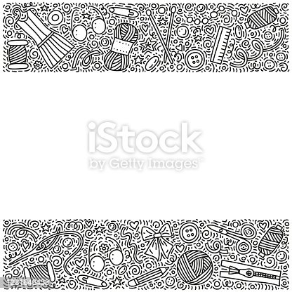 istock Poster with doodle hand made icons. 1281646433