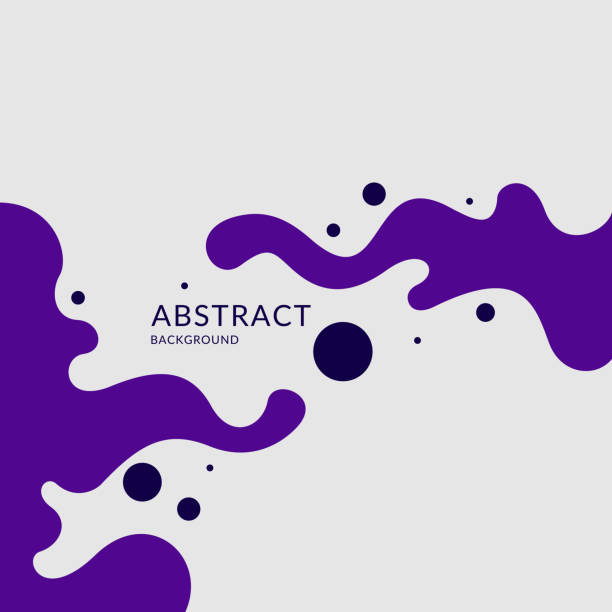ilustrações de stock, clip art, desenhos animados e ícones de poster with dynamic waves. vector illustration in minimal style - líquido