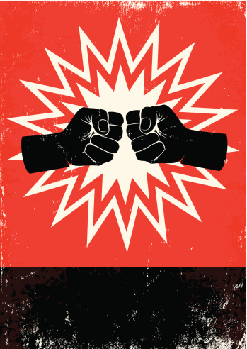poster with fists