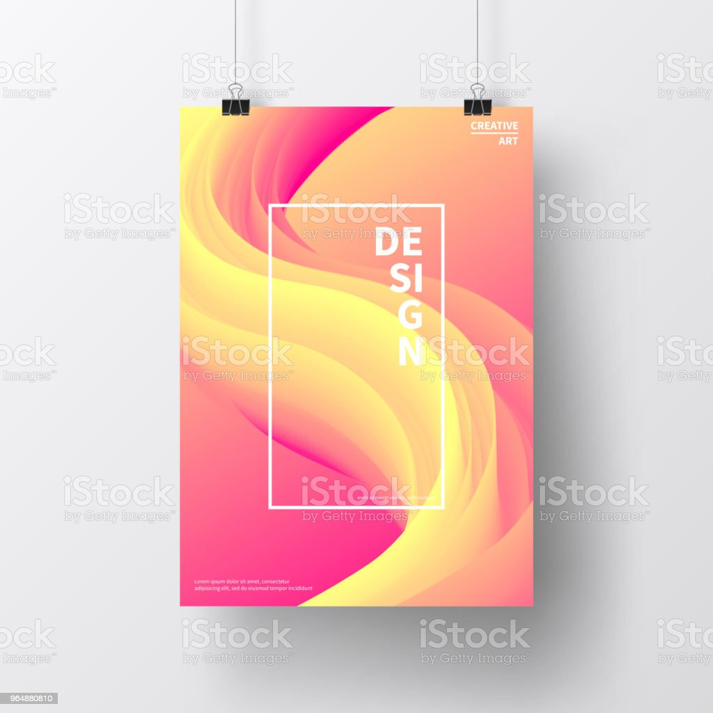 Poster with fluid colorful design, isolated on white background royalty-free poster with fluid colorful design isolated on white background stock vector art & more images of abstract