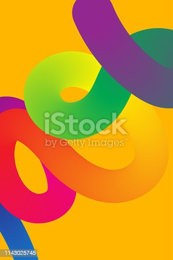 Poster with gradient rainbow fluid, abstract blend background, template for night club flyer, color trendy banner. Vector illustration