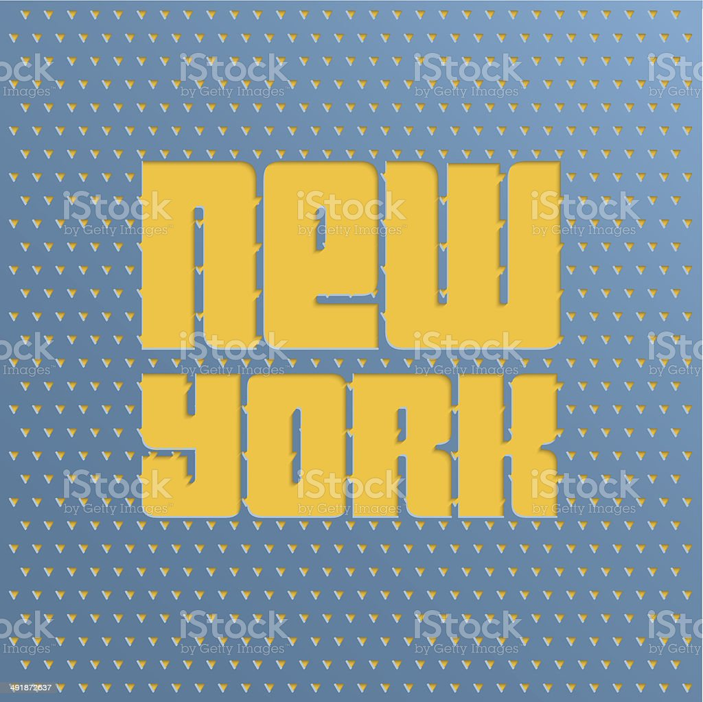 Poster with text  New York vector art illustration
