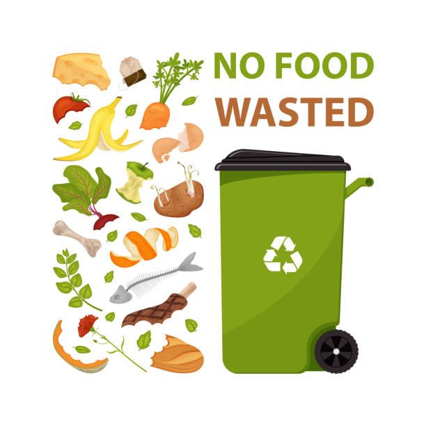 ilustraciones, imágenes clip art, dibujos animados e iconos de stock de cartel con texto sin comida desperdiciada - leftovers