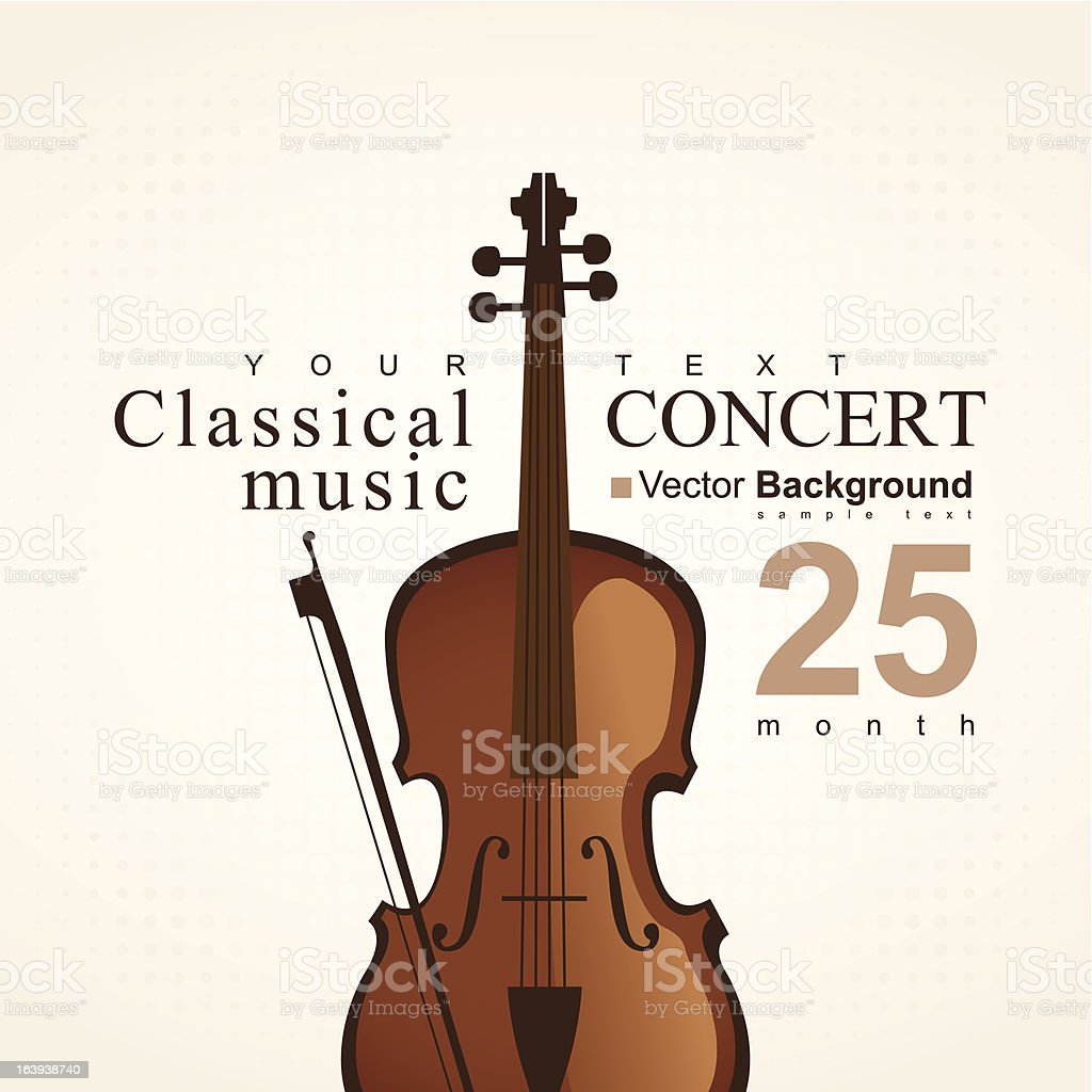 poster with violin royalty-free stock vector art