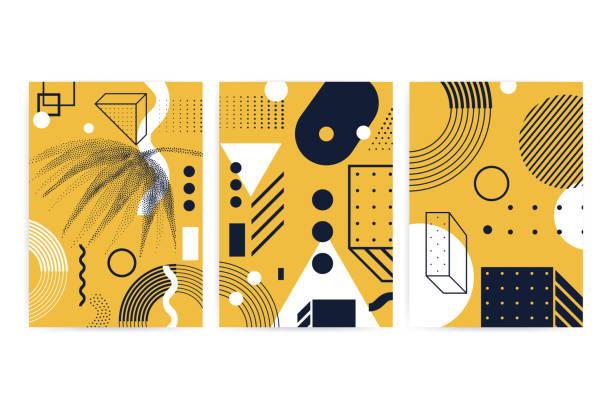 Poster mit hellen, kräftigen geometrischen Elementen – Vektorgrafik