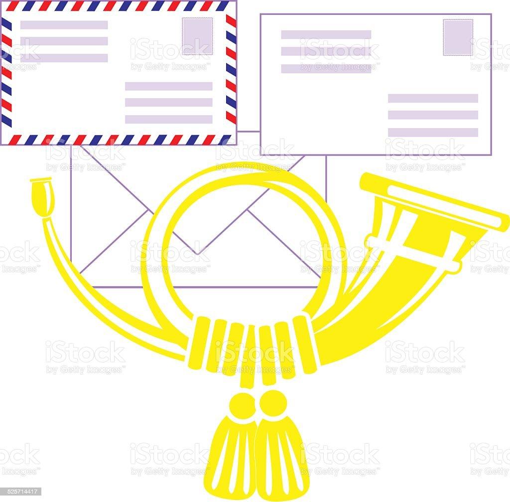 Posthorn vector art illustration