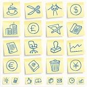 'Postit' office icons