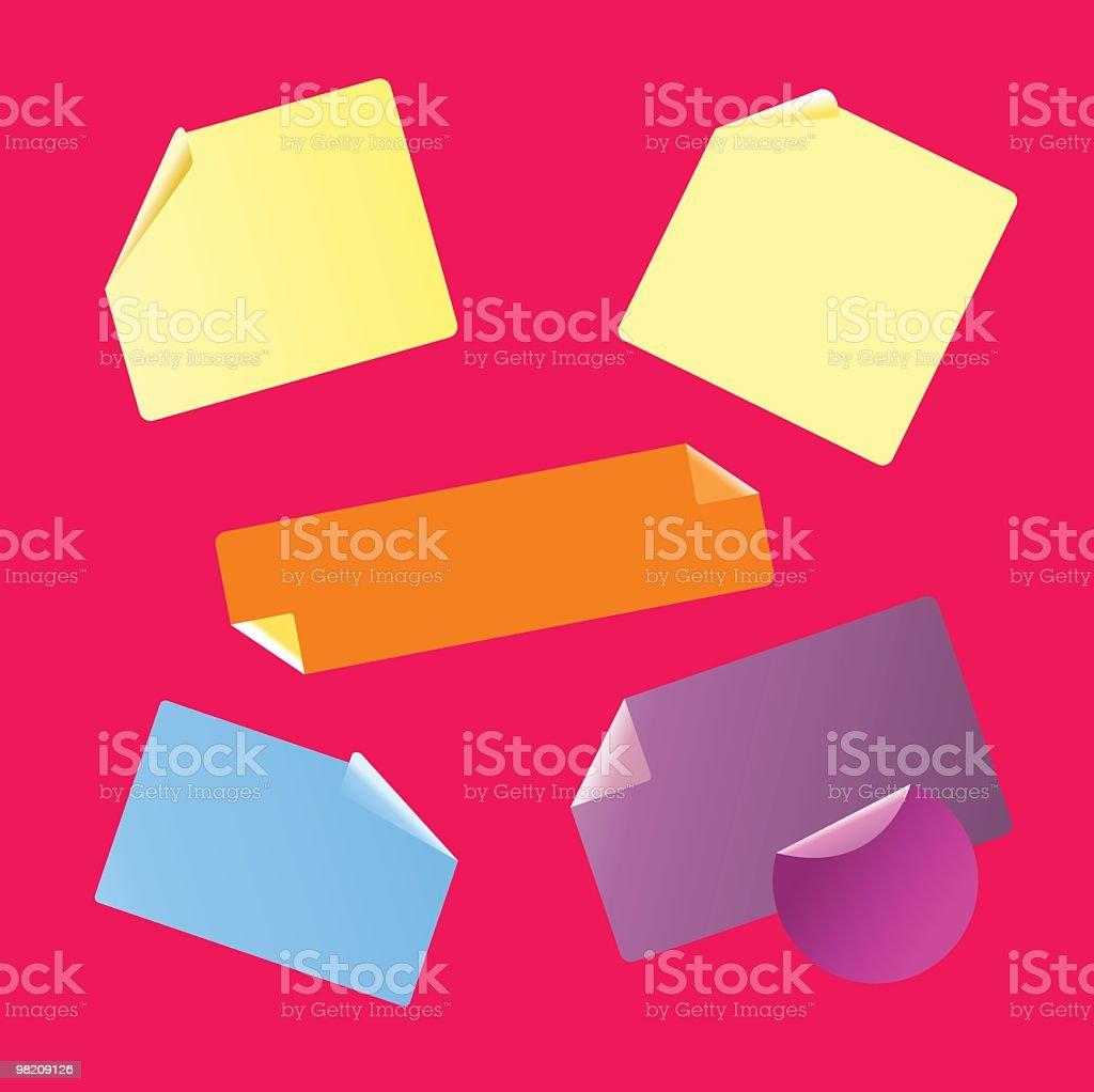 Post-it & elettrodi adesivi da utilizzare per il progetto postit elettrodi adesivi da utilizzare per il progetto - immagini vettoriali stock e altre immagini di biglietto adesivo royalty-free
