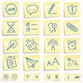 Post-it software icons