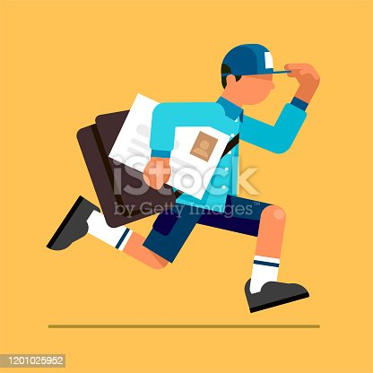 istock Postman Delivering Mail 1201025952