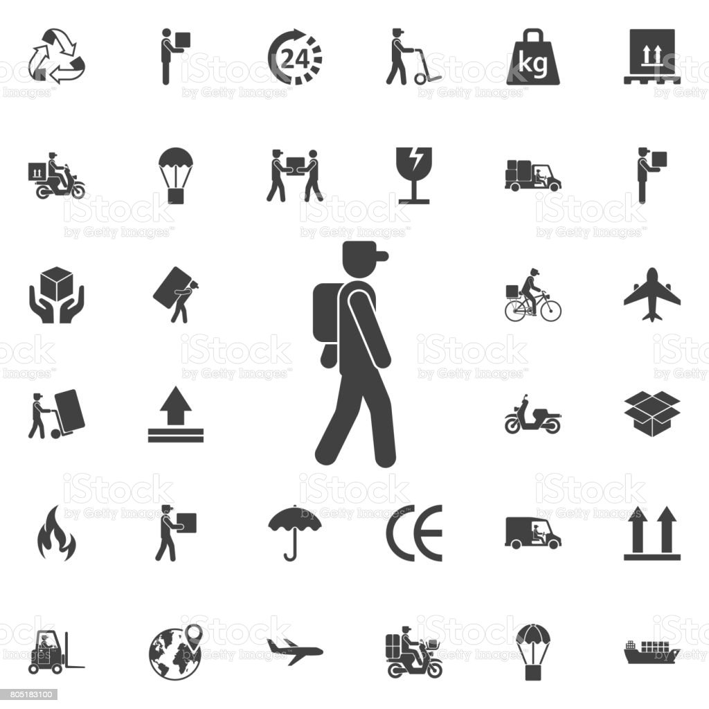 postman icon vector art illustration