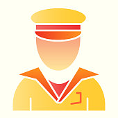 Postman line icon. Mail delivery man, courier. Postal service vector design concept, outline style pictogram on white background, use for web and app. Eps 10