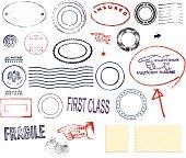 istock Postmark Design Set 165064748