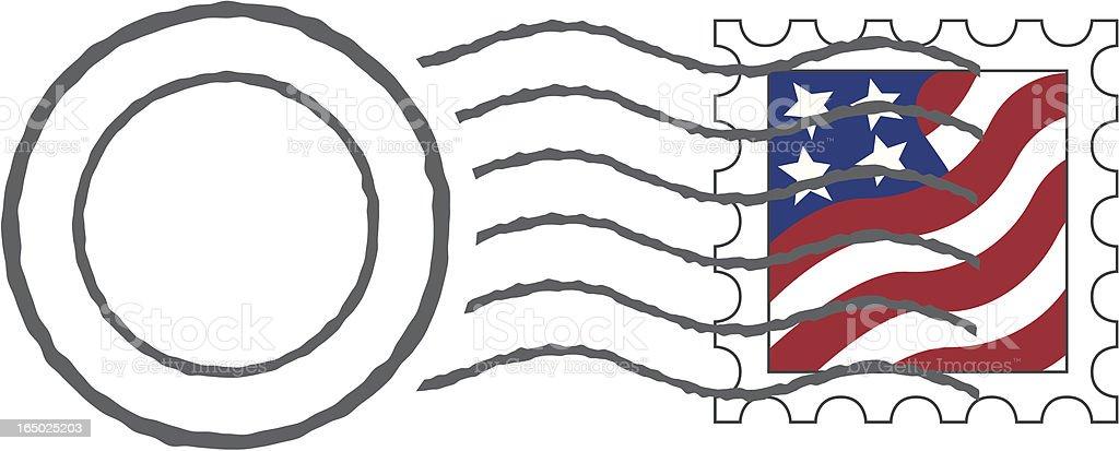 Postmark & Stamp (Vector) vector art illustration