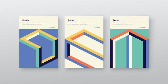 Postmodern Design Vector Cover Mockup