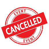 istock Postponed event cancelled stamp design 1280799994