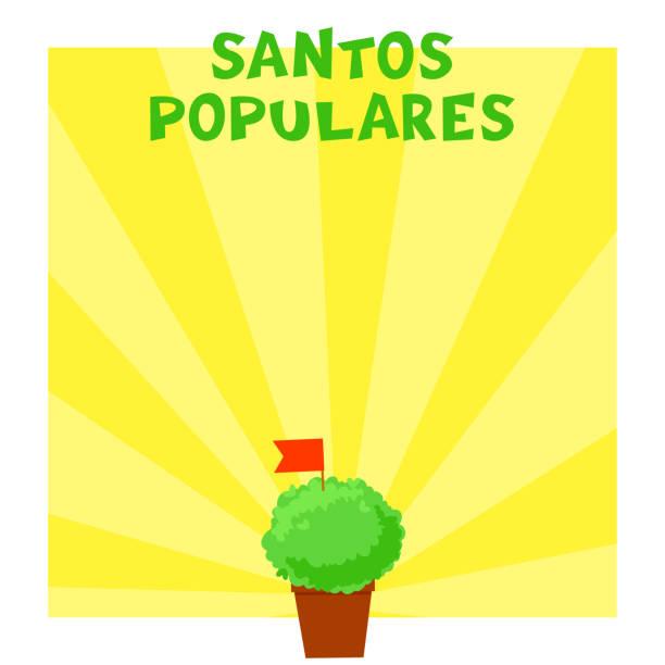 Postuguese Santos Populares banner vector art illustration