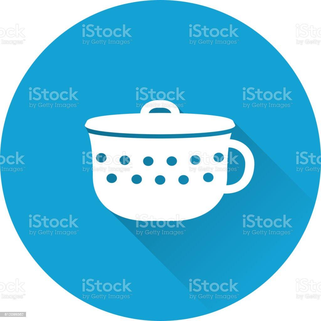 Pot baby icon. Vector illustration. vector art illustration