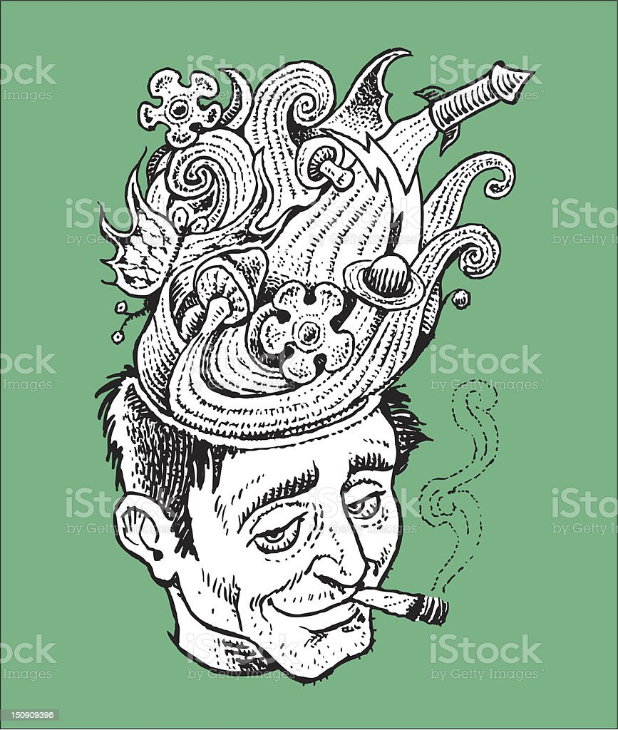 Pot Head royalty-free pot head stock vector art & more images of addict