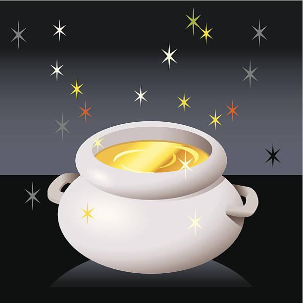 Pot 'o Gold! vector art illustration