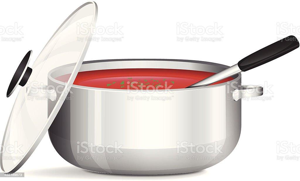 Pot Of Soup royalty-free stock vector art