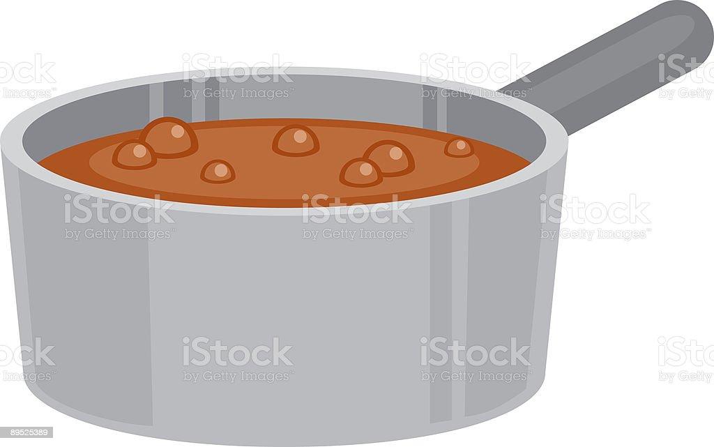 Pot of Soup royalty-free pot of soup stok vektör sanatı & baharatlı yiyecek'nin daha fazla görseli