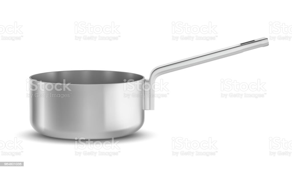 pot or pan with  handle on white background royalty-free pot or pan with handle on white background stock vector art & more images of aluminum