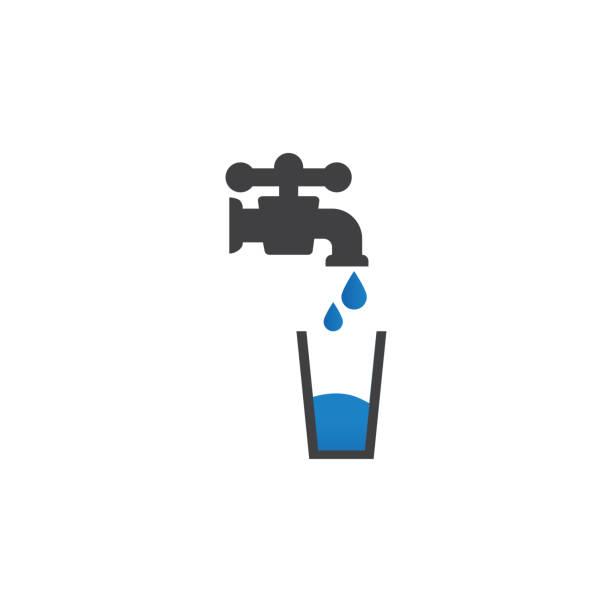 음료수 아이콘 디자인 서식 파일 벡터 고립 - tap water stock illustrations