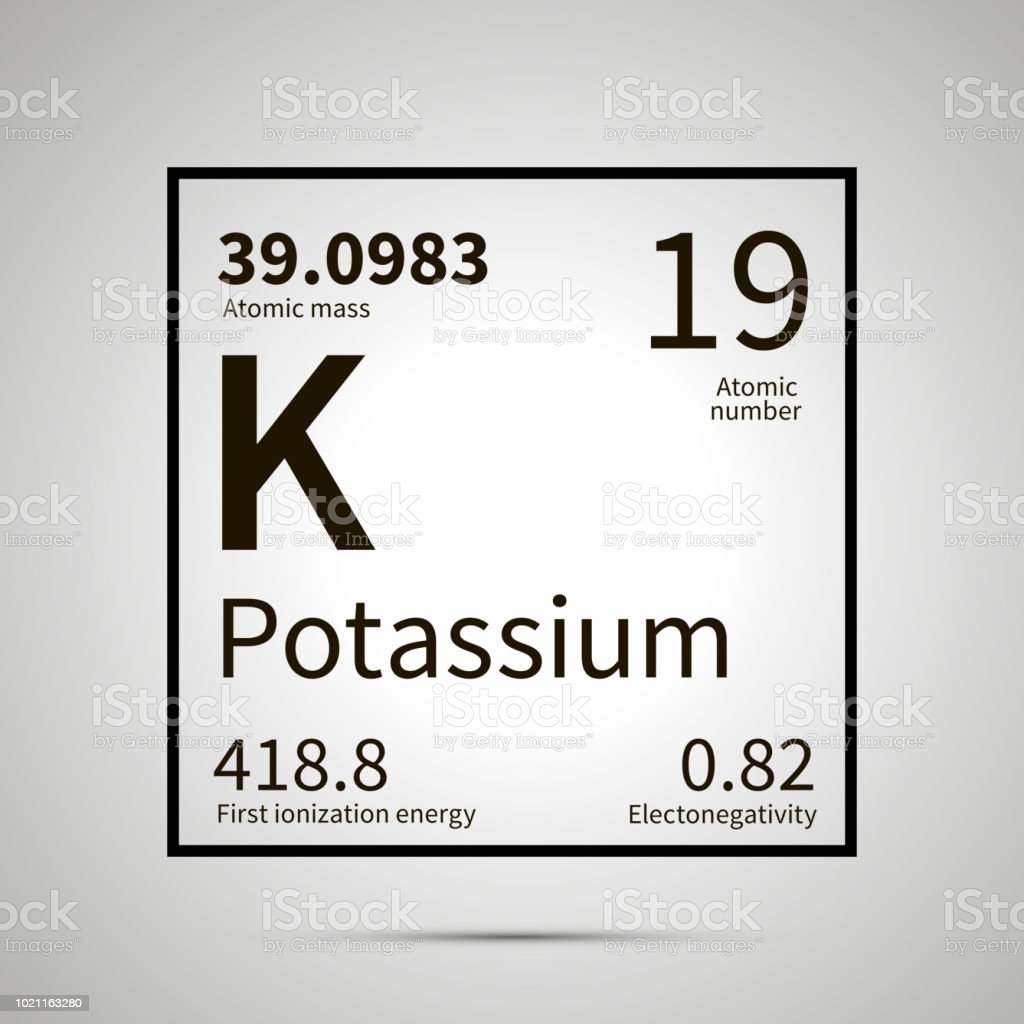 Potassium Chemical Element With First Ionization Energy Atomic Mass