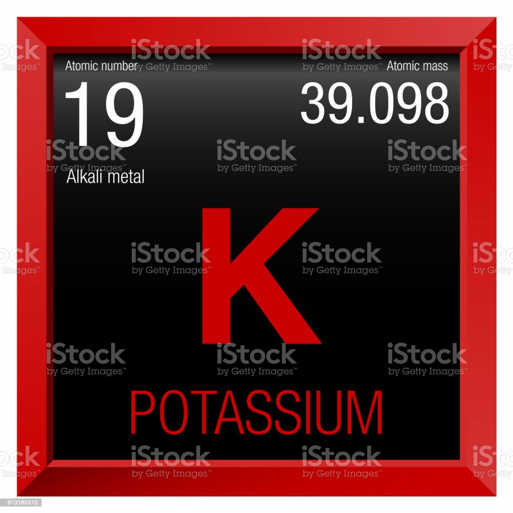 Potassium symbol element number 19 of the periodic table of the element number 19 of the periodic table of the elements chemistry royalty urtaz Image collections