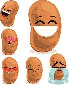 Cartoon potato set including: