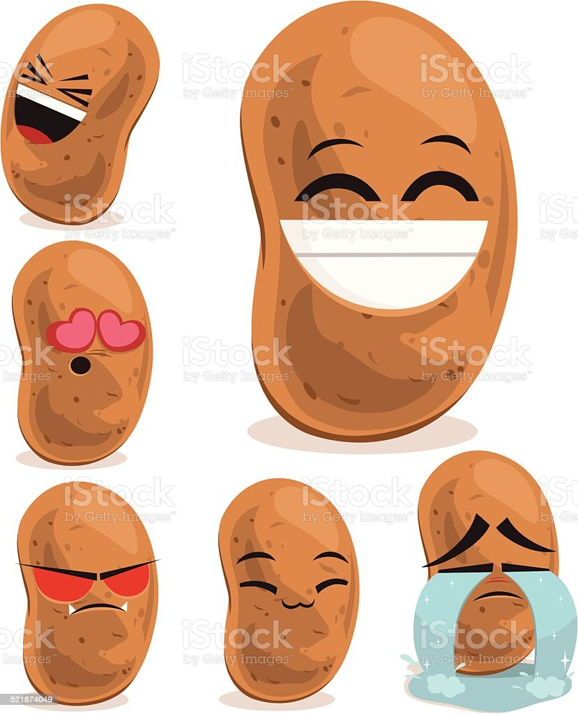 Potato Cartoon Set B vector art illustration
