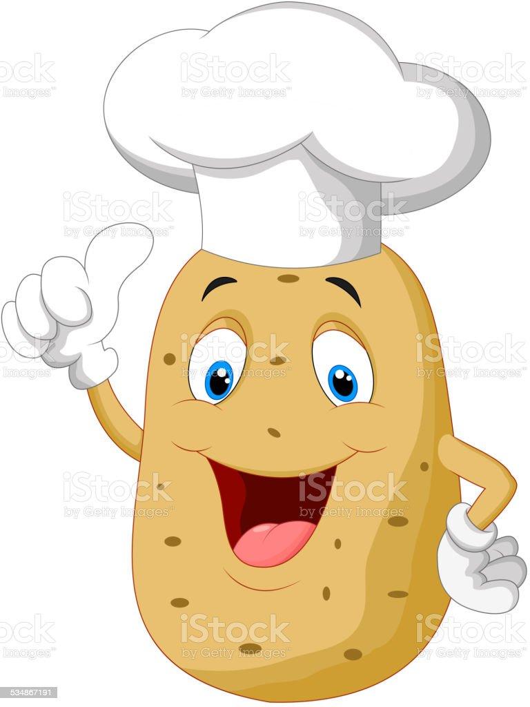 Kartoffelchef Comic Geben Daumen Hoch Stock Vektor Art und ... (767 x 1024 Pixel)