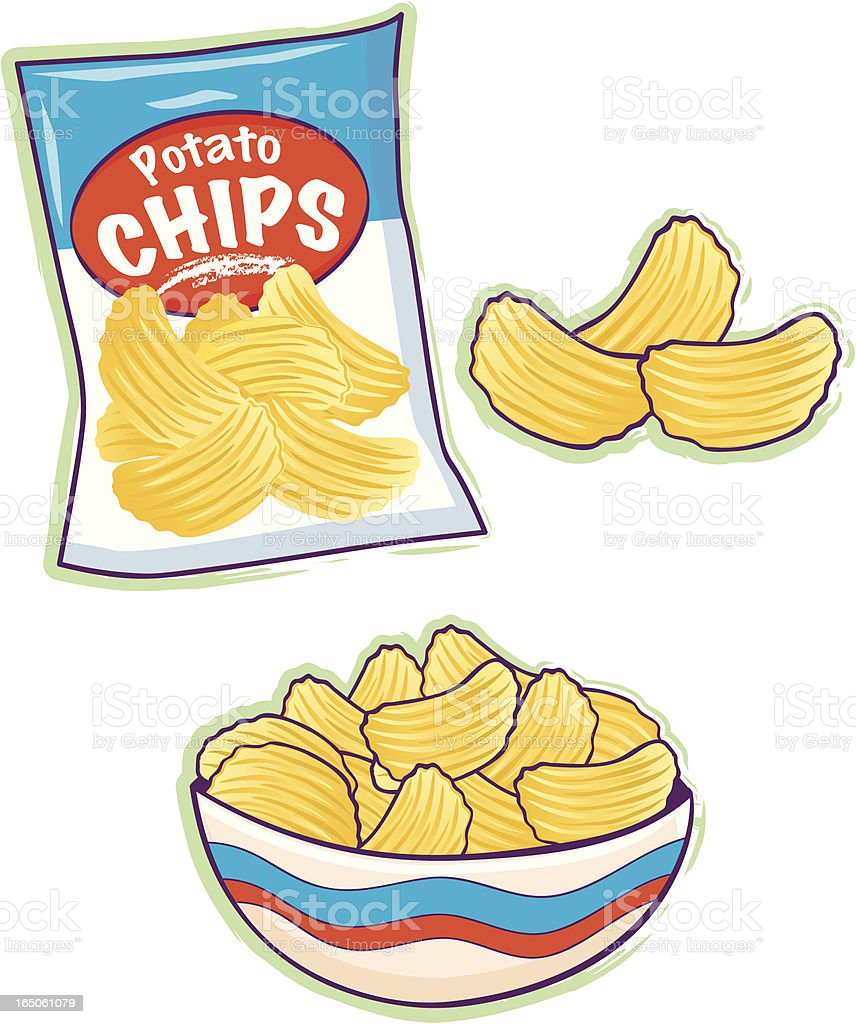 Potato Chips Stock Vector Art & More Images of Bag ...