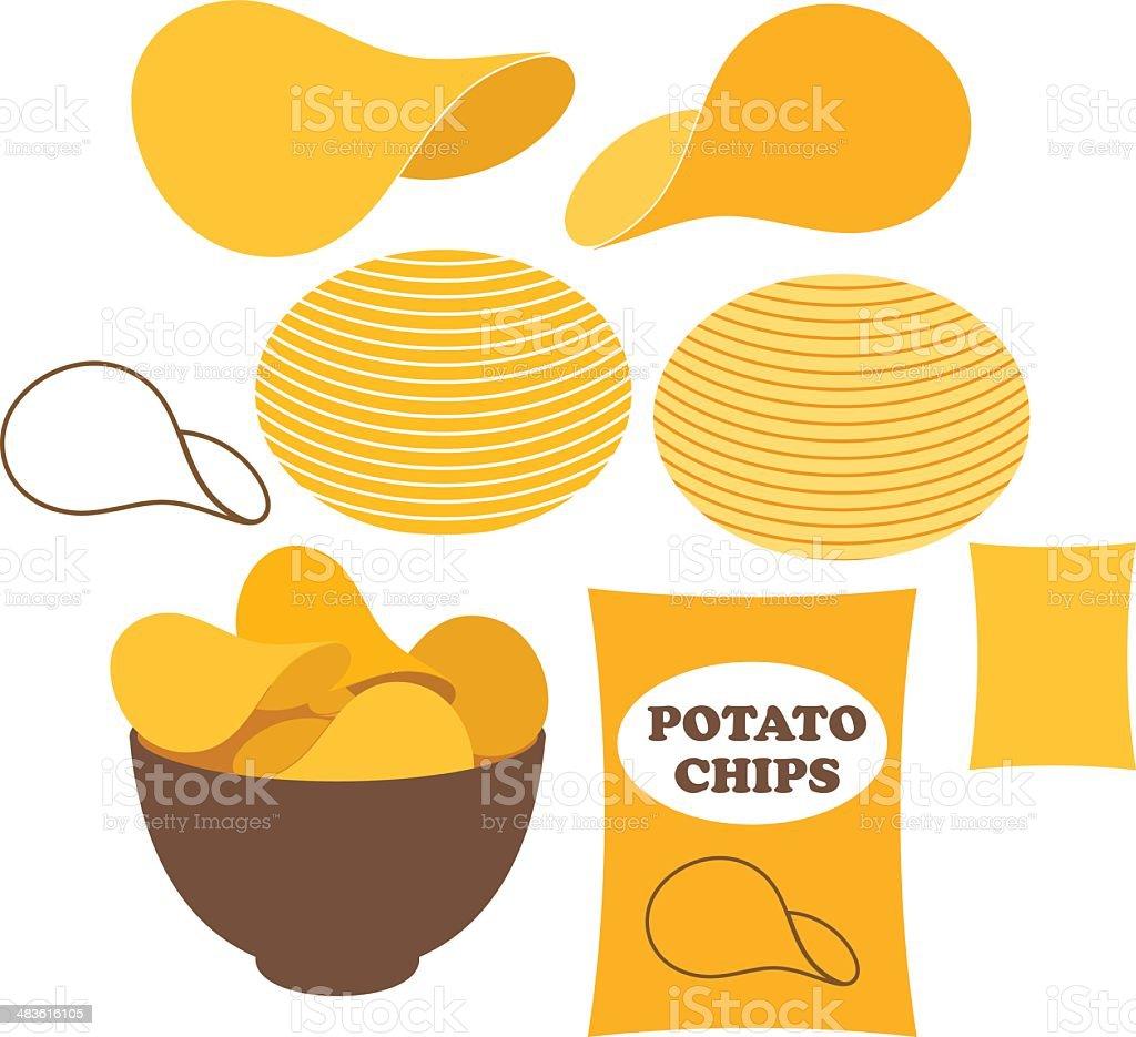 Potato Chips - Royaltyfri Bag vektorgrafik