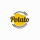 potato icon symbol vector icon template