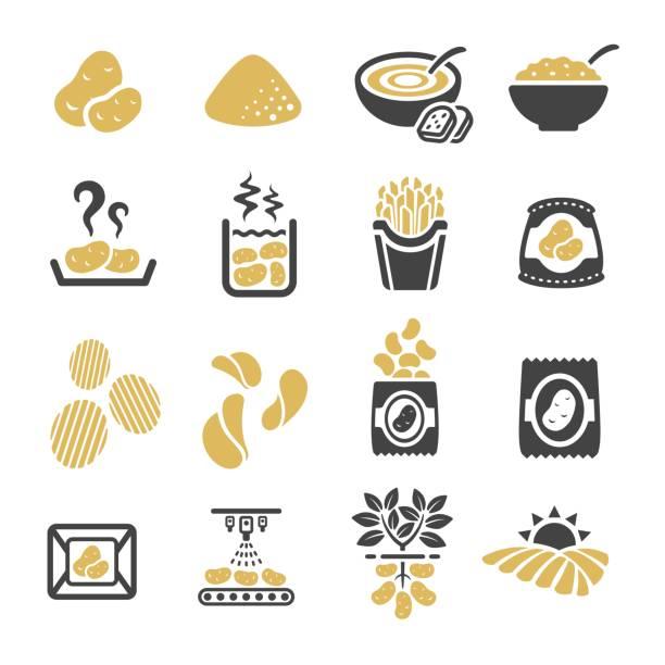 kartoffel-symbol - kartoffeln stock-grafiken, -clipart, -cartoons und -symbole