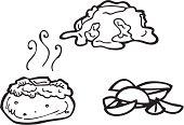 istock Potato Line Art 124483301