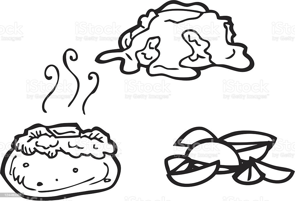 Potato Line Art vector art illustration