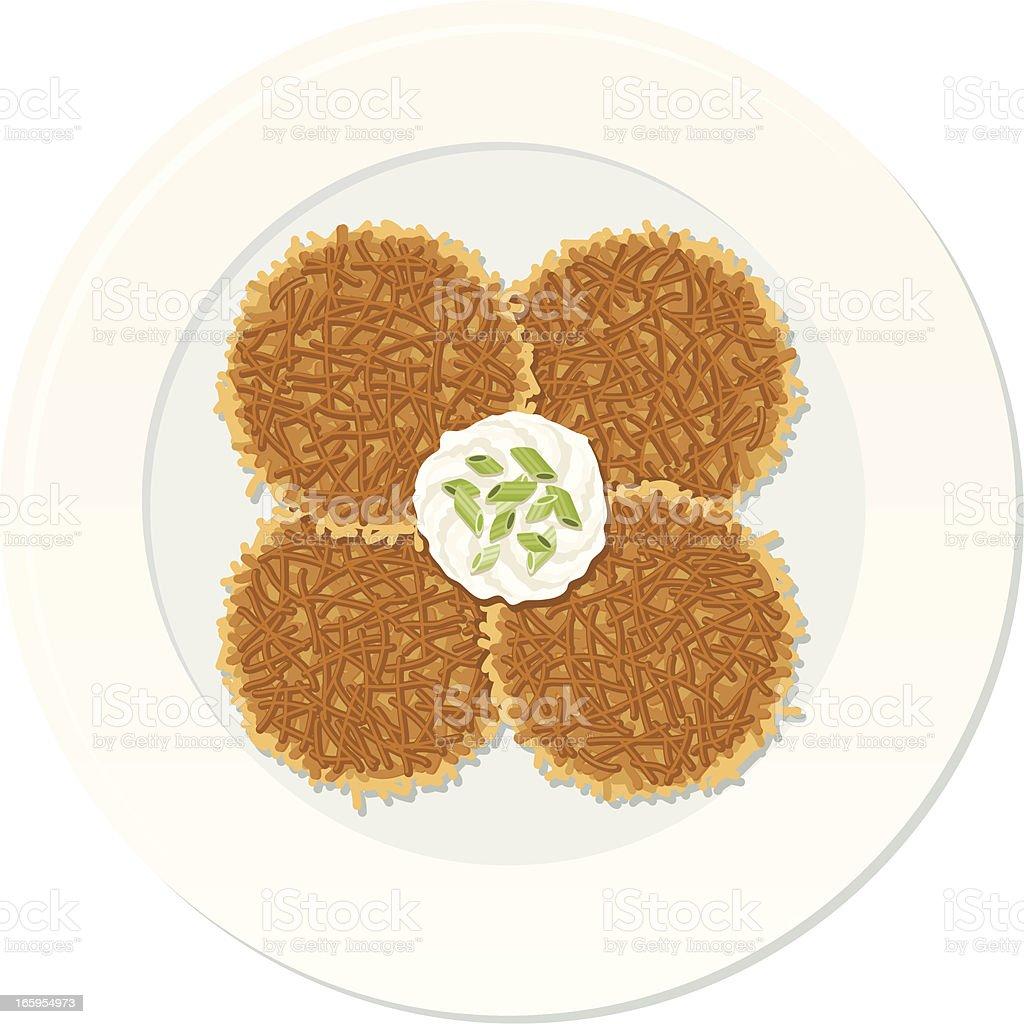 Potato Pancakes (Latke) royalty-free stock vector art