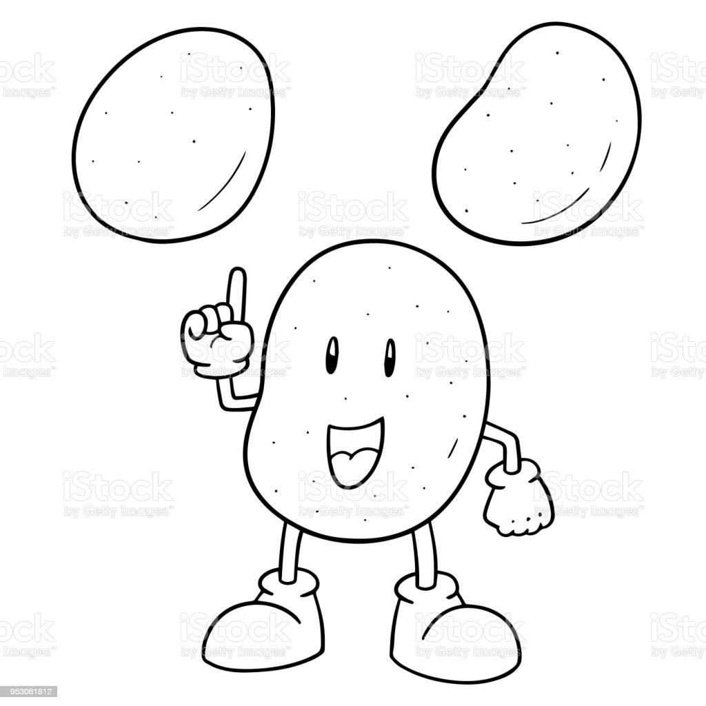 potato vector art illustration