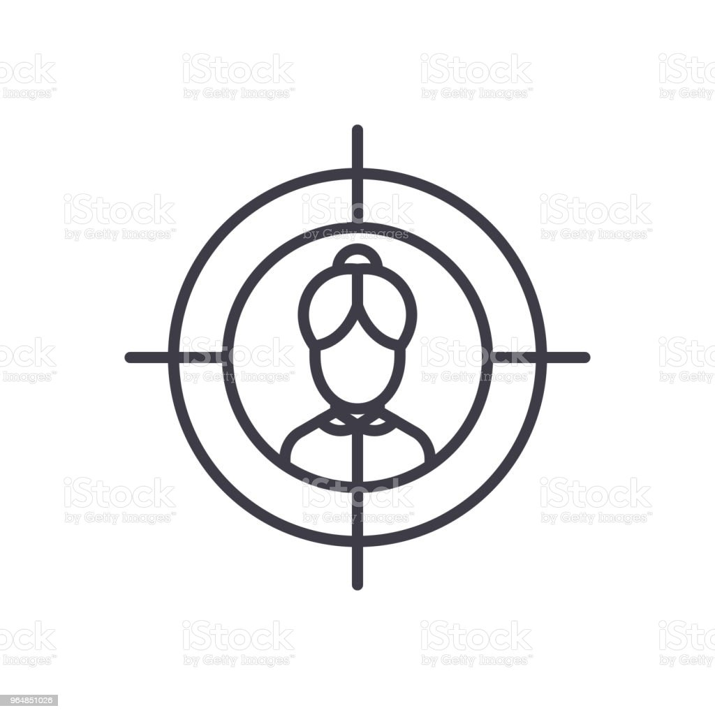 Potential client black icon concept. Potential client flat  vector symbol, sign, illustration. royalty-free potential client black icon concept potential client flat vector symbol sign illustration stock illustration - download image now