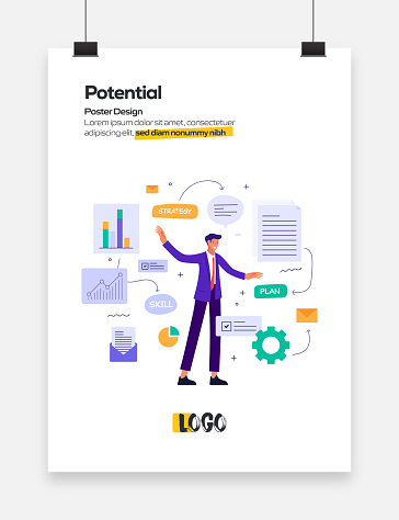 Potential Concept Flat Design for Posters, Covers and Banners. Modern Flat Design Vector Illustration.